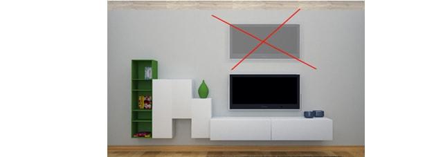 posicion incorrecta del televisor