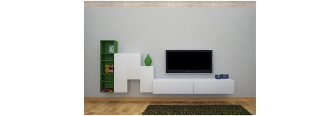 televisor pared